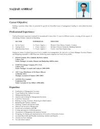 Sample Resume Objective Sentences by Resume Template Accounting Resume Objective Statements General