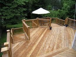 cos cob natural wood deck completed custom decks of fairfield