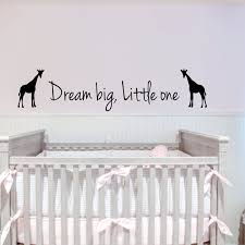 Giraffe Wall Decals For Nursery Big One Giraffes Wall Stickers Bedroom Removable