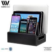 laptop charging station amazon com mobilevision wood universal multi device organizer