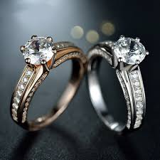 diamond rings price images Fashion atmospheric 925 sterling silver inlaid simulation 1ct jpg