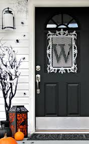 Halloween Decorating Doors Ideas Four Ideas For Inexpensive Halloween Door Decorations