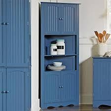 amazon com brylanehome country kitchen corner cabinet blue 0