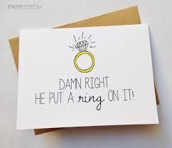wedding gift card engagement announcement cheeky wedding gift