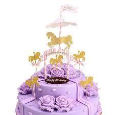 carousel cake topper cake toppers baby shower 1pcs carousel cupcake cake topper