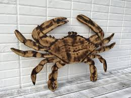 wooden crab wall decor beach house decor crab wall art patio