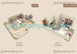Triangle Floor Plan by Pacific Residencia Floor Plans Justproperty Com