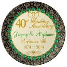 40th anniversary plates personalized names dates 40th anniversary plate anniversaries