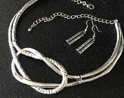 collar necklace silver images Silver collar etsy jpg