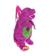 Barney And The Backyard Gang Doll Cute Purple Plush Barney Doll Toy Packback Barney Toy Dolls
