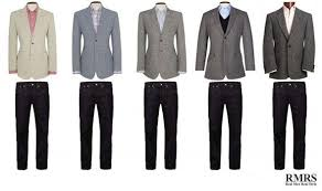 light grey suit combinations 25 jackets 15 trousers yield 375 combinations