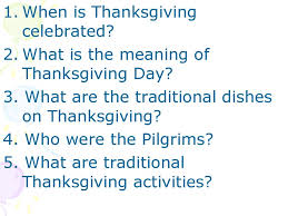 thanksgiving day день благодарения presentation