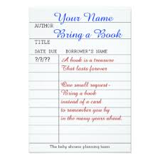 bring a book instead of a card poem baby shower book poem gifts on zazzle