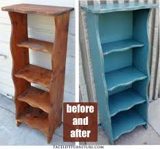 Repurposed Furniture Before And After by Distressed Sea Blue Bookshelf Glaze Blog And Black