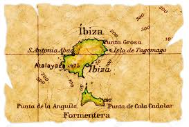 Spain On The Map by Ibiza Spain On An Old Torn Map From 1949 Isolated Part Of