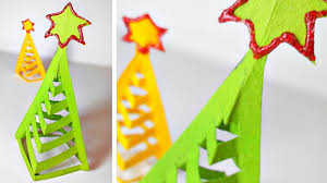 origami christmas tree diy paper decor 3d made easy tutorial for