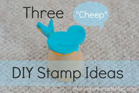 3 easy diy stamp ideas kids craft activities making lemonade