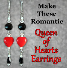 easy earrings and beaded heart earrings a step by step