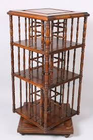 Revolving Bookcase Table Lot 139 Victorian Spindle Inset Revolving Bookcase