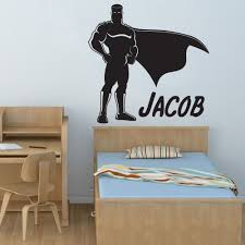 online get cheap nursery wall murals aliexpress com alibaba group personalized boys superhero superman wall decal art room decor sticker vinyl cut kids nursery wall mural