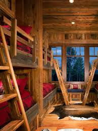 Rustic Wood Bunk Bed Houzz - Rustic wood bunk beds