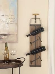 cole u0026 grey wood metal 4 bottle wall mounted wine rack u0026 reviews