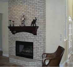 Diy Livingroom Interior Design Awesome White Brick Exposed Faux Fireplace With