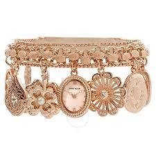 anne bracelet images Anne klein ladies charm bracelet watch 10 8096rmch anne klein jpg
