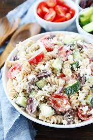 cold pasta salad recipes creamy greek pasta salad recipe two peas their pod