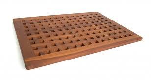 Teak Bath Mat Solid Teak Grate Bath Shower Mat Teak Patio Furniture World