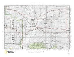 Montana County Map by Judith River Musselshell River Drainage Divide Area Landform