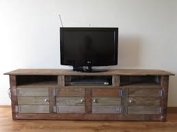 Tv Units Recycled Timber Low Line Tv Unit Home Is Where The Heart Is
