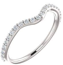 heart shaped wedding rings accompanying diamond bridal band for heart shaped ring