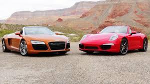 porsche carrera 2014 2014 audi r8 spyder vs 2013 porsche 911 carrera s cabriolet