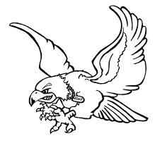 black outline flying falcon tattoo stencil by aka kara firelight