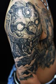 fu dog tattoo on half sleeve photos pictures and sketches