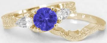tanzanite gemstone rings images Tanzanite white sapphire engagement ring and wedding band with jpg