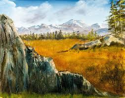 Mountain Landscape Paintings the plains mountain landscape painting by barry jones