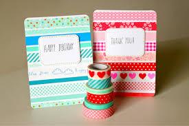 washi tape diy cards