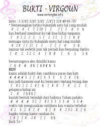 tutorial gitar lagu virgoun bukti not angka bukti virgoun not angka lagu indonesia