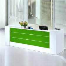 desk green standing reception desk for modern office ideas with