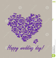 happy wedding day happy wedding day greeting card with paper heart stock vector