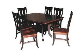 amish table and chairs sierra dining table set quick ship from dutchcrafters amish
