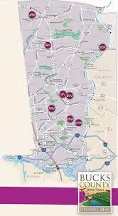 bucks county map bucks county wine trail