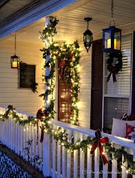 decorating front porch with christmas lights christmas decorating ideas for porch railings my web value