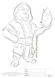 free printable clash of clans wizard coloring pages 1