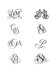 initial monograms i like with my kids initials unique monogram initial tattoos