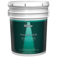 behr marquee 5 gal ultra pure white semi gloss enamel one coat
