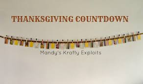 mandy s krafty exploits thanksgiving countdown for
