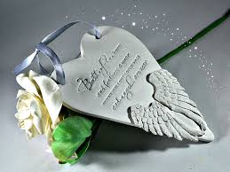 in memory ornament memorial gift wings remembrance